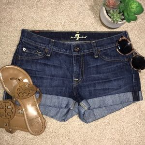 Like new 7 for All Mankind jean shorts
